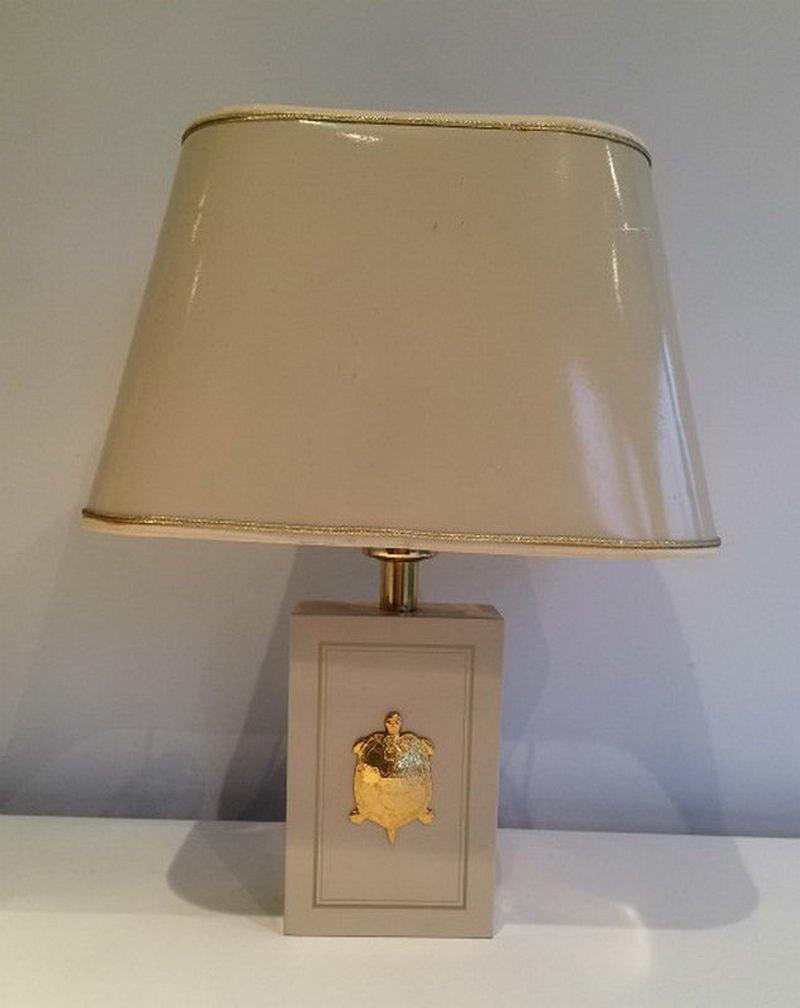 Tischlampen mit vergoldeten Schildkröten Ornamenten, 1970er, 2er Set