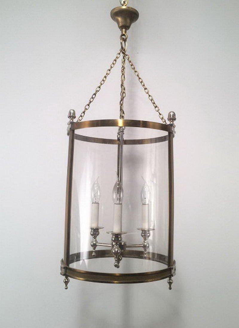 Messing, Silber & Plastik Deckenlampe, 1970er