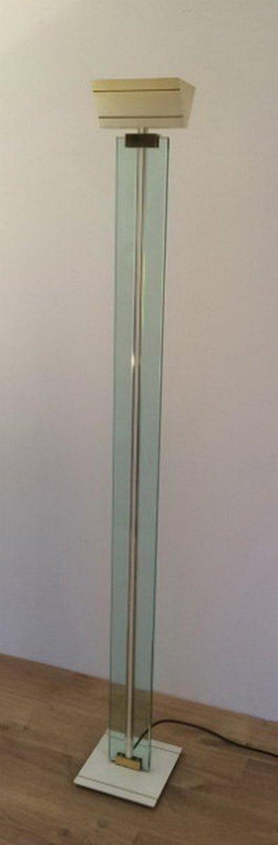 Glas, Messing & Metall Stehlampe, 1970er