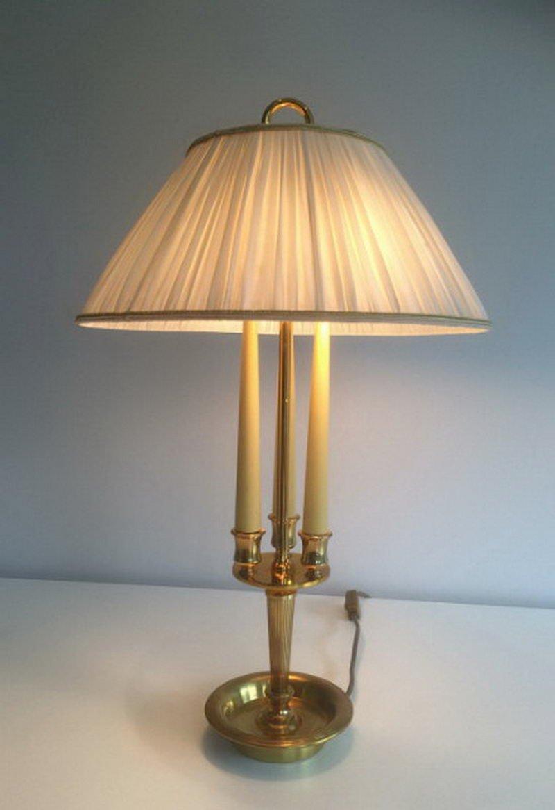 Messing Bouillotte Tischlampe, 1960er