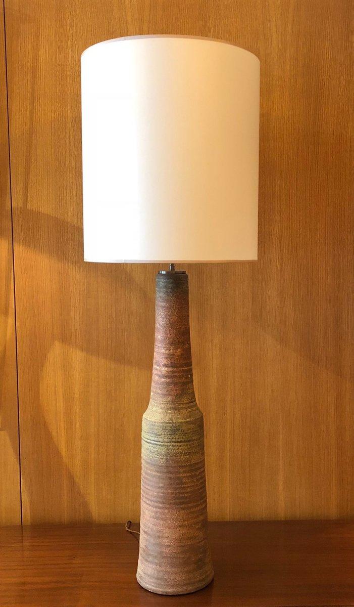 Niederländische vintage Keramik Tischlampe von Mobach