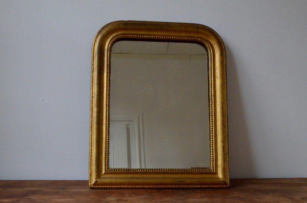 gro er antiker franz sischer spiegel mit vergoldetem rahmen bei pamono kaufen. Black Bedroom Furniture Sets. Home Design Ideas