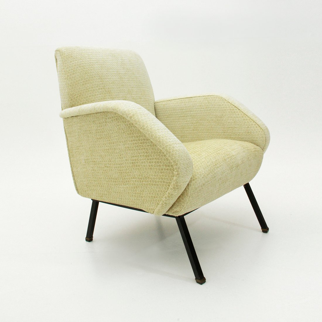 Italian Yellow Armchair From Bonino 1950s