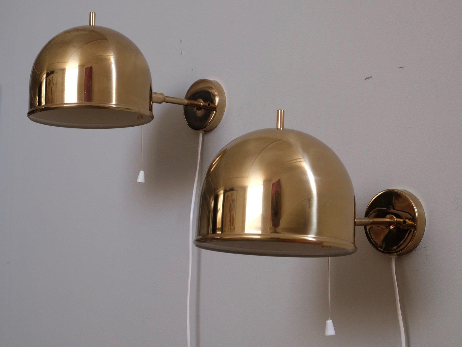 Messing Wandlampe von Bergboms, 1960er
