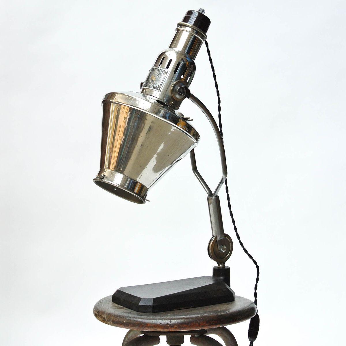 Vintage Arzt Tischlampe von Hanau, 1940er