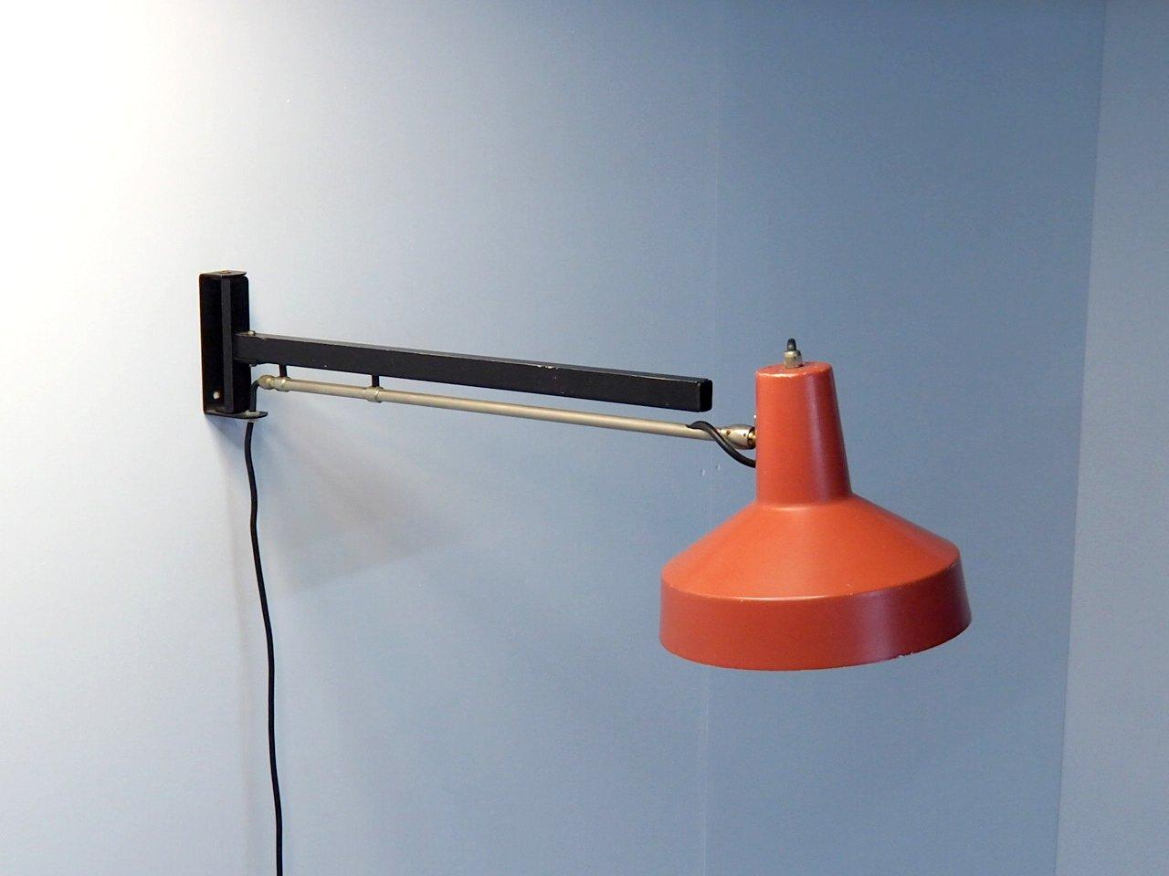 Niederländische Wandlampe von Hiemstra Evolux, 1960er