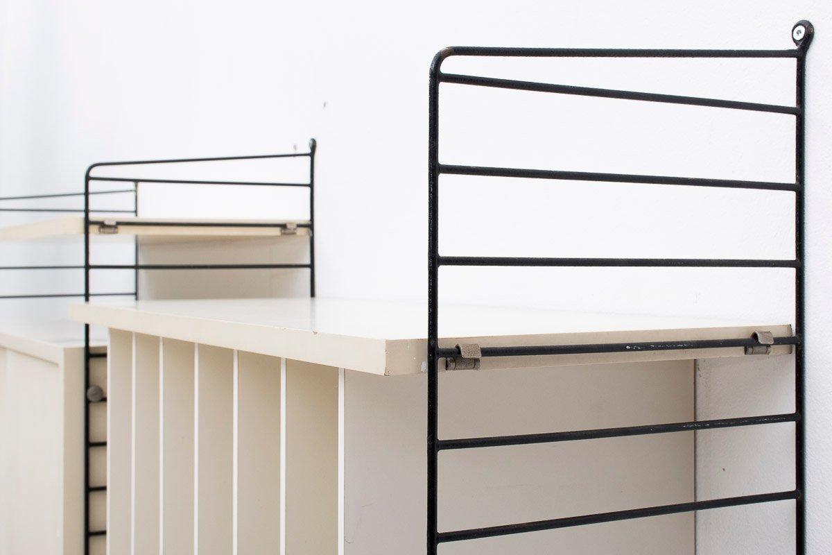 schwedisches modulares regal von nisse strinning f r string 1950er bei pamono kaufen. Black Bedroom Furniture Sets. Home Design Ideas