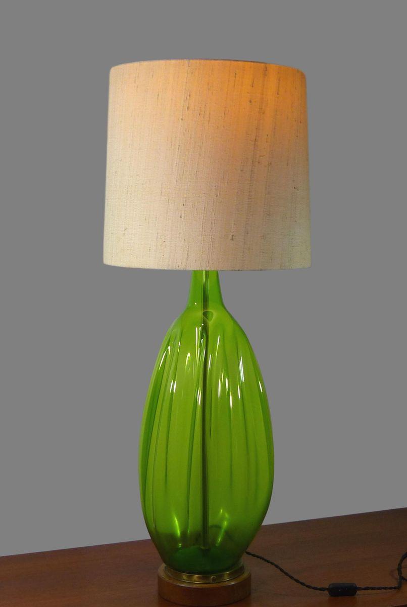 Lampada da tavolo grande vintage in vetro soffiato di blenko in vendita su pamono - Lampada da tavolo vintage ...