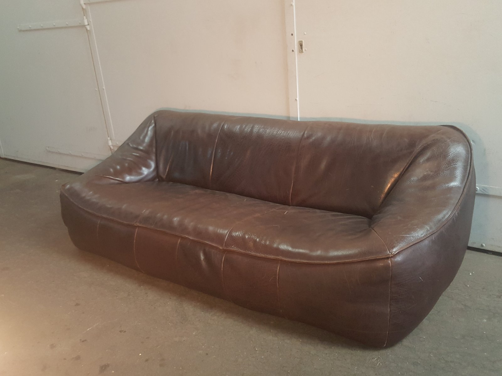Leder Ringo 3-Sitzer Sofa von Gerard Van Den Berg für Montis, 1970er