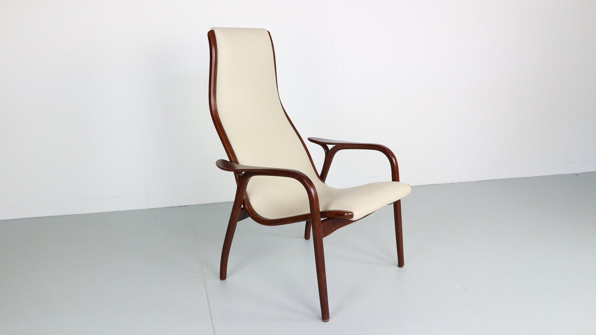 Leder & Wenge Holz Lamino Chair von Yngve Ekström für Swedese, 1950er