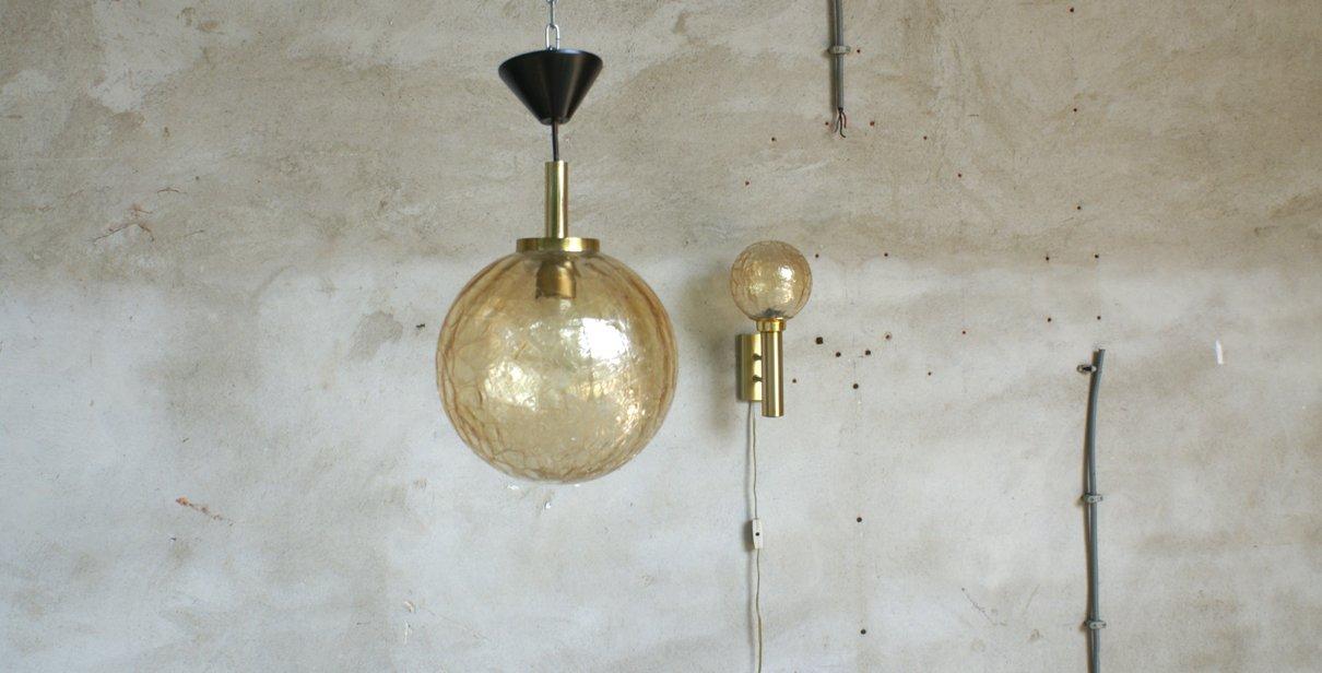 Doria Deckenlampe & Wandlampe von Limburg, 1968