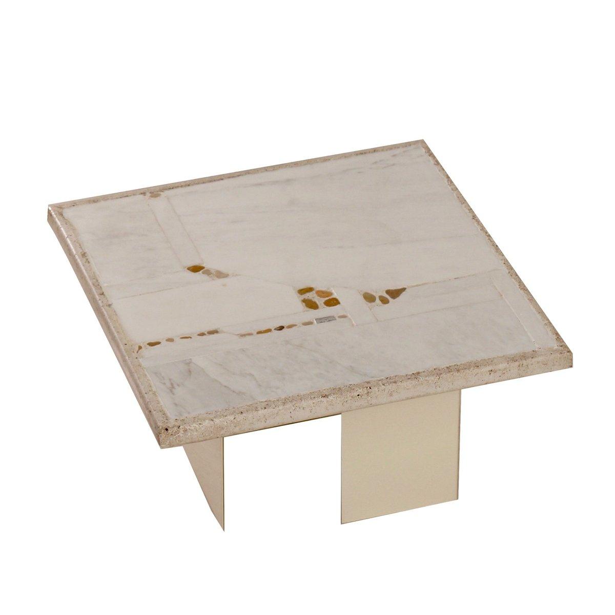 Kleiner Weißer Couchtisch : kleiner wei er marmor couchtisch von paul kingma 1980er bei pamono kaufen ~ Markanthonyermac.com Haus und Dekorationen