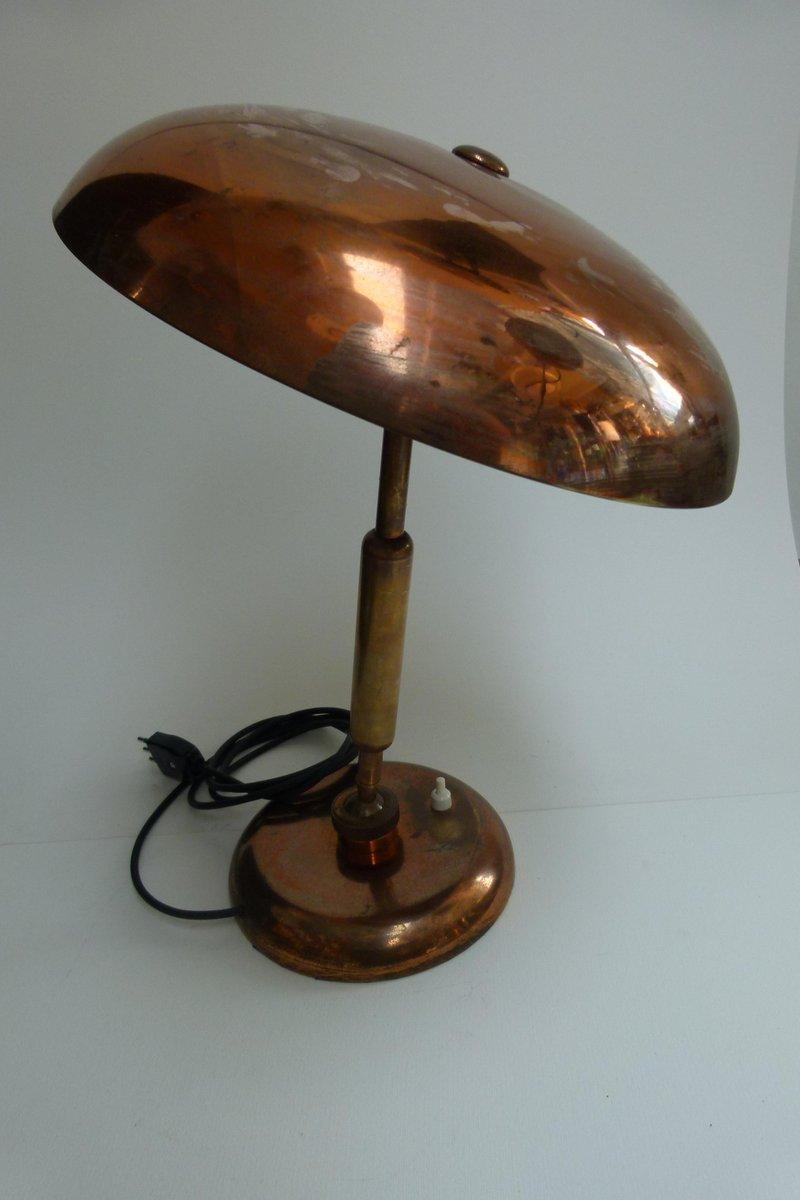 Tischlampe aus verkupfertem Messing, 1950er
