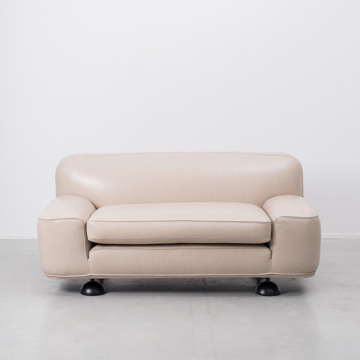Altopiano 2-Sitzer Ledersofa von Franco Poli für Bernini, 1960er