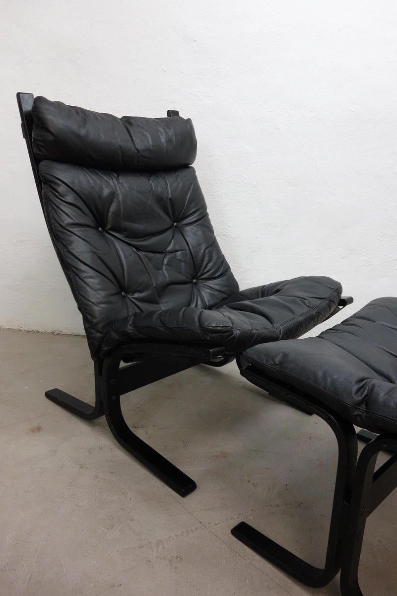 siesta sessel mit fu hocker von ingmar relling f r westnofa 1960er bei pamono kaufen. Black Bedroom Furniture Sets. Home Design Ideas