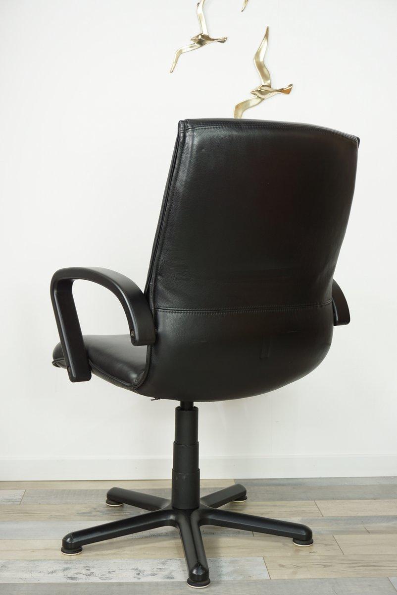 sedia da ufficio girevole in pelle anni 39 80 in vendita su