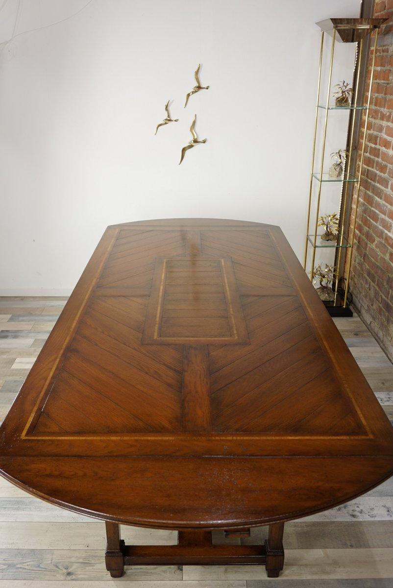 table de salle manger vintage en bois 1940s en vente. Black Bedroom Furniture Sets. Home Design Ideas