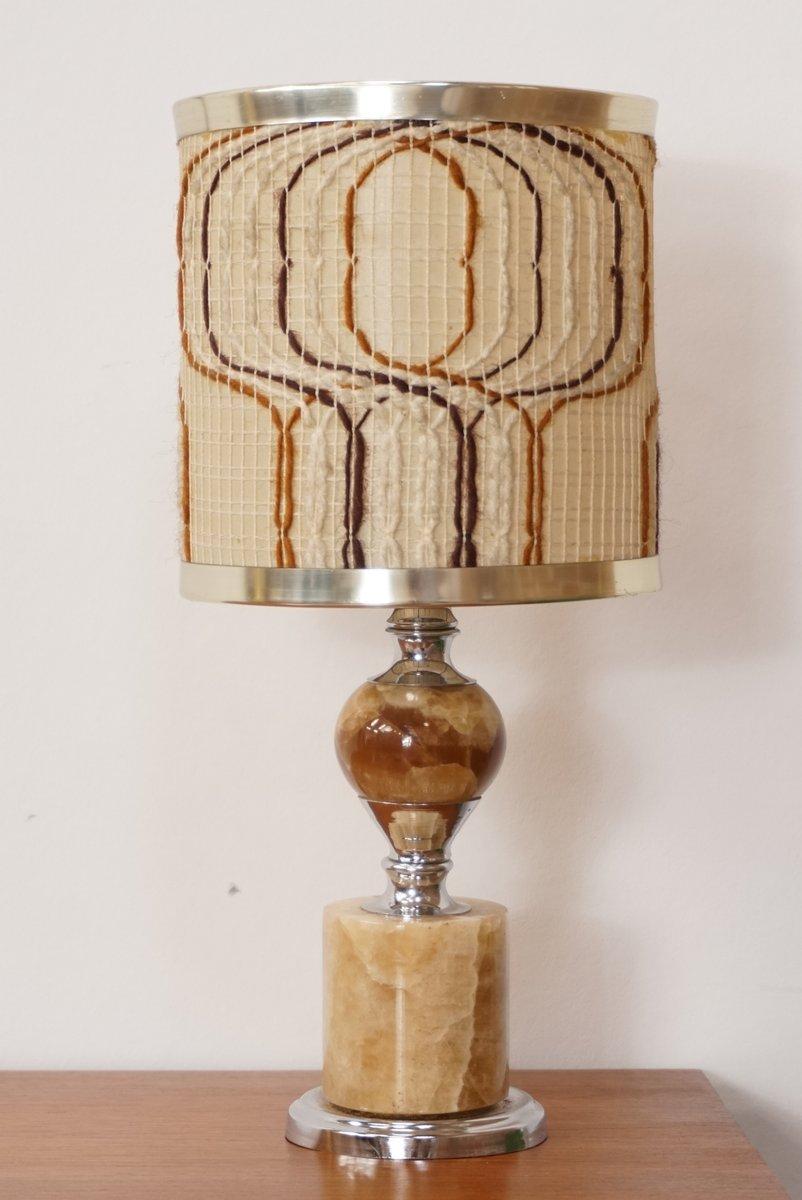 Vintage Onyx & Chrom Lampe