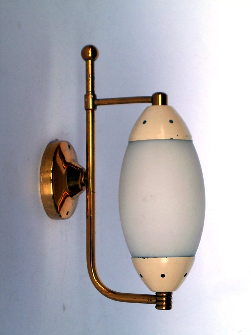 Mid-Century Wandlampen, 1950er, 3er Set