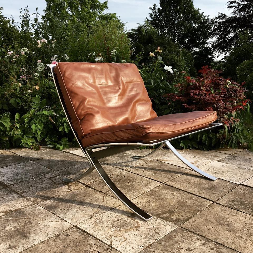 Tango Chair aus Stahl & Leder von Steen Østergaard für Steel Line, 197...