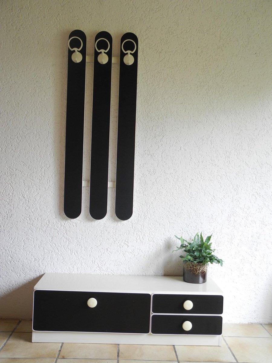 Garderobe Schuhschrank In Schwarz Weiss 1970er Bei Pamono Kaufen