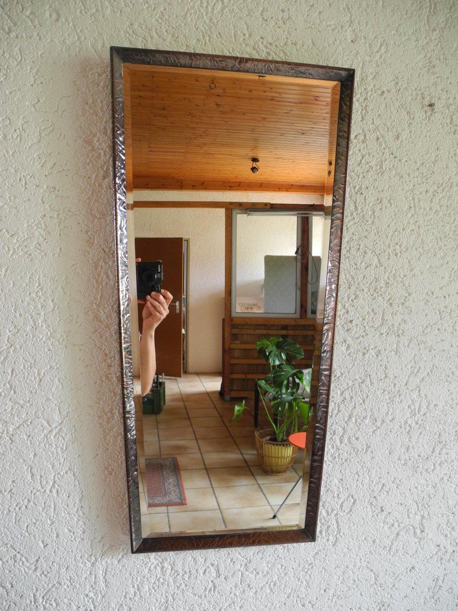 Spiegel mit rahmen aus kupfer 1960er bei pamono kaufen for Spiegel kupfer