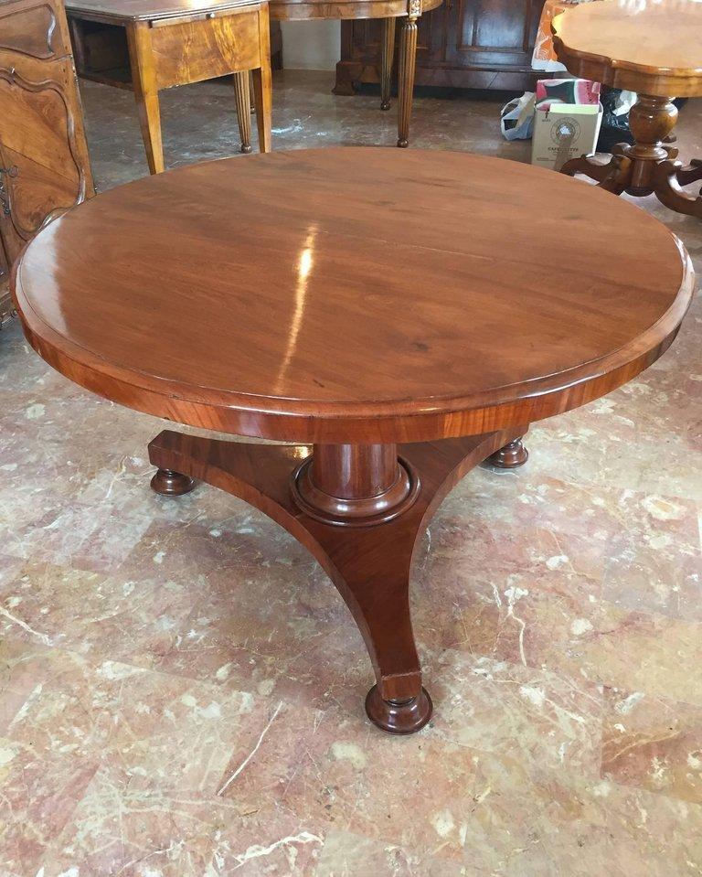 antiker franz sischer mahagoni tisch mit klappbarer platte 1840er bei pamono kaufen. Black Bedroom Furniture Sets. Home Design Ideas