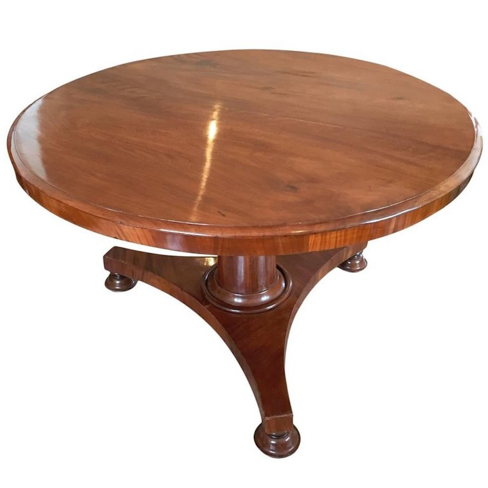 Antiker französischer Mahagoni Tisch mit klappbarer Platte, 1840er