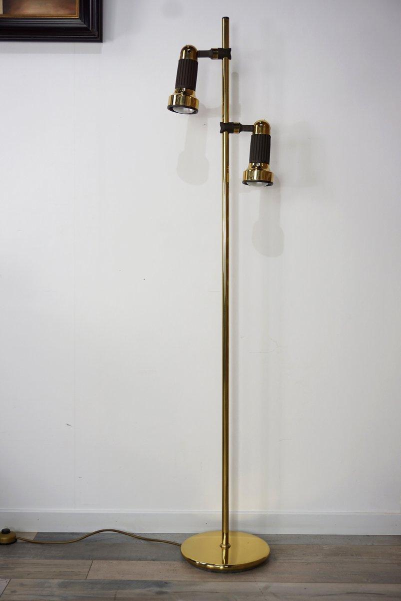 Vintage Messing Stehlampe von Simon & Schelle für Sische