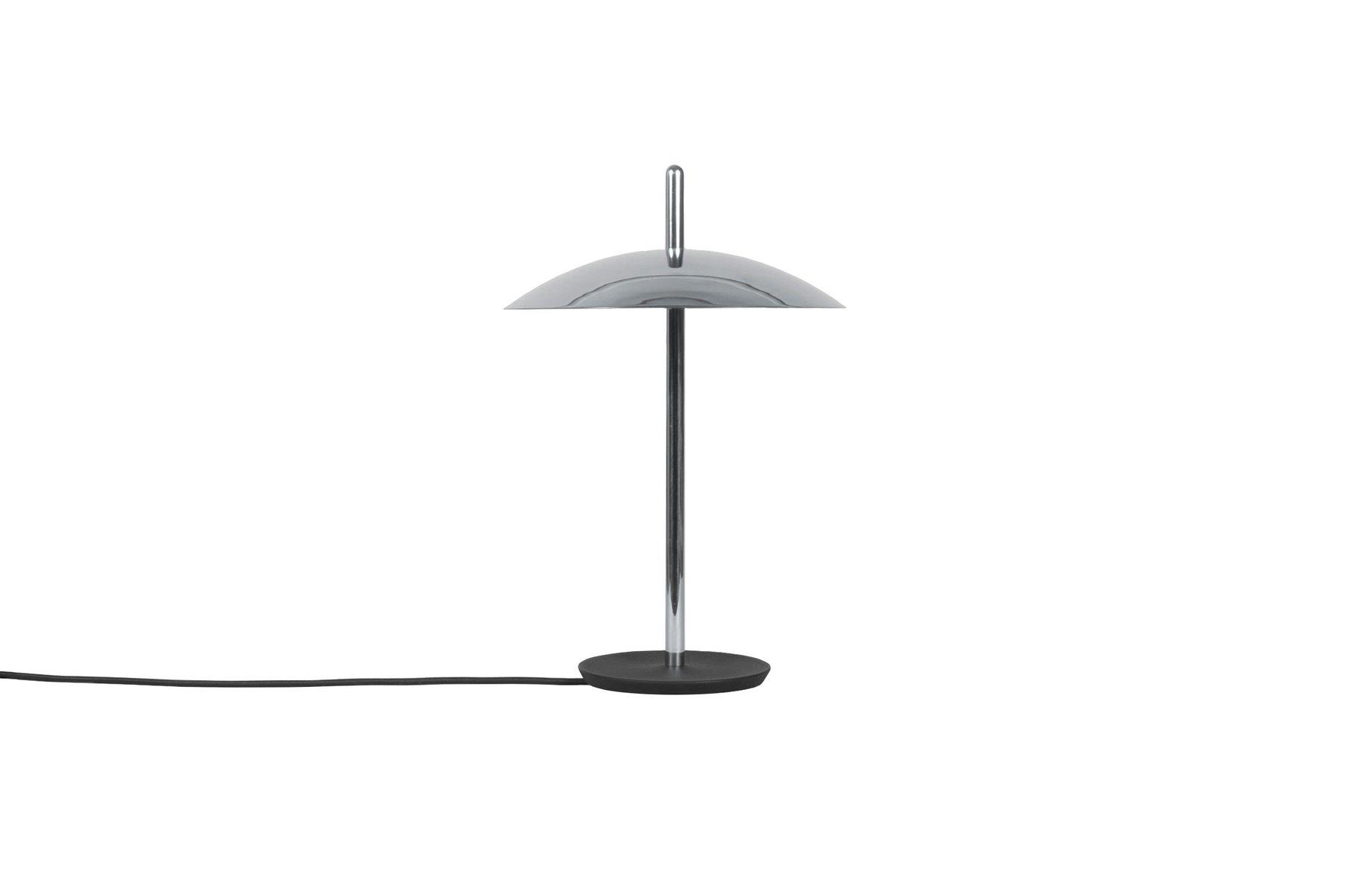 Signal Tischlampe aus Nickel von Shaun Kasperbauer für Souda