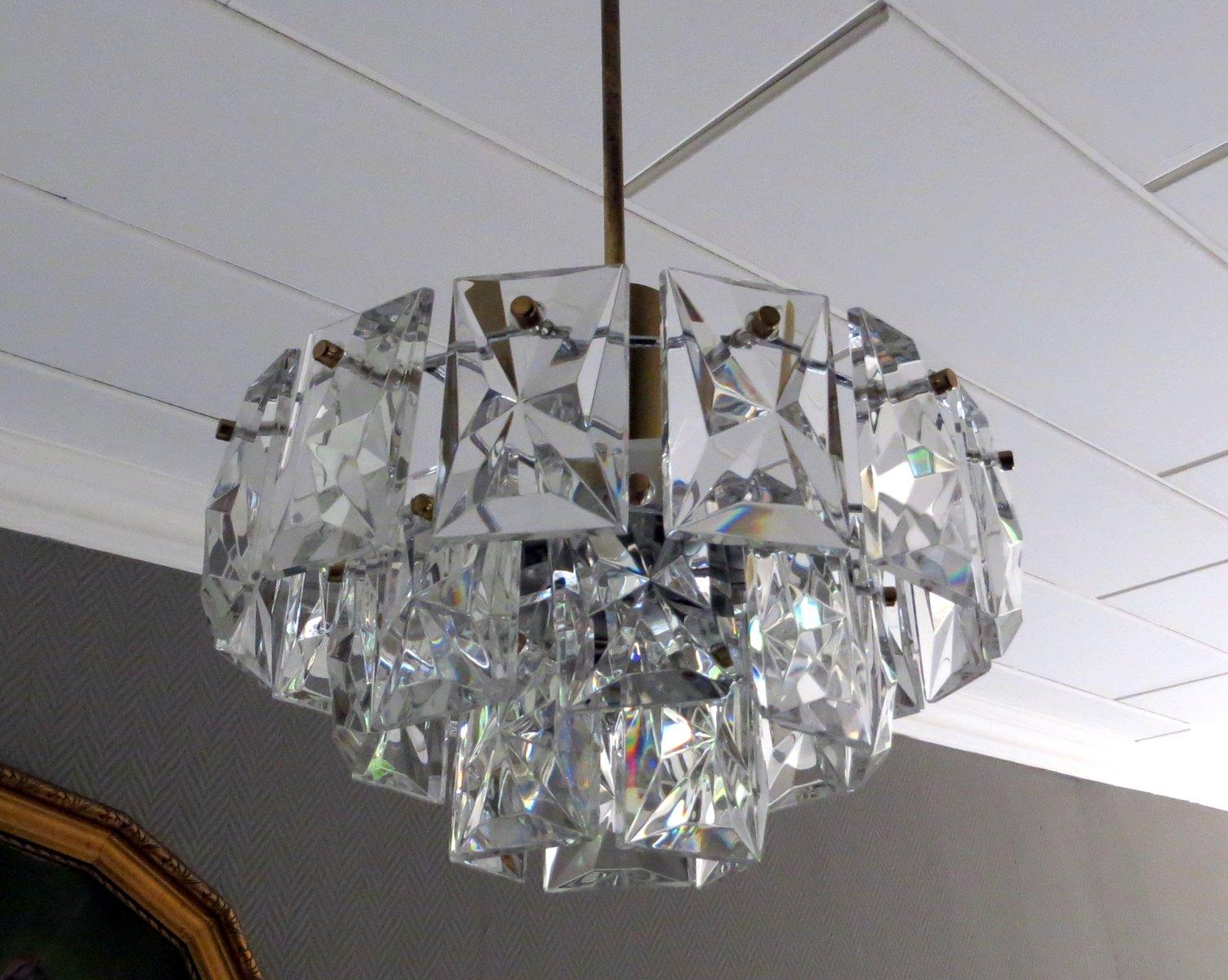 Crystal glass prism chandelier from kinkeldey 1960s for sale at pamono crystal glass prism chandelier from kinkeldey 1960s aloadofball Gallery