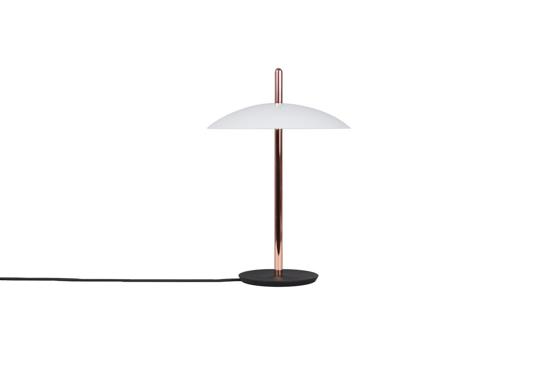 Weiße Signal Tischlampe in Kupfer von Shaun Kasperbauer für Souda