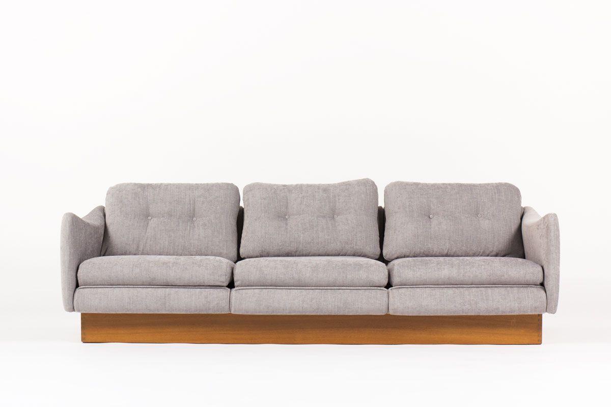 Französisches Teckel 3-Sitzer Sofa von Michel Mortier für Steiner, 196...
