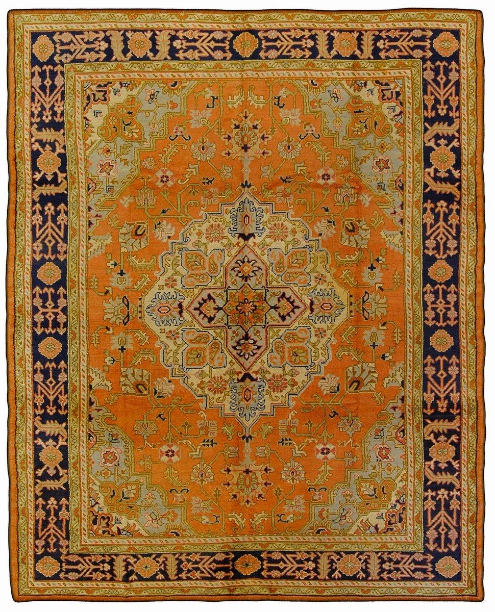 Rechteckiger türkischer Vintage Ushak Teppich bei Pamono kaufen