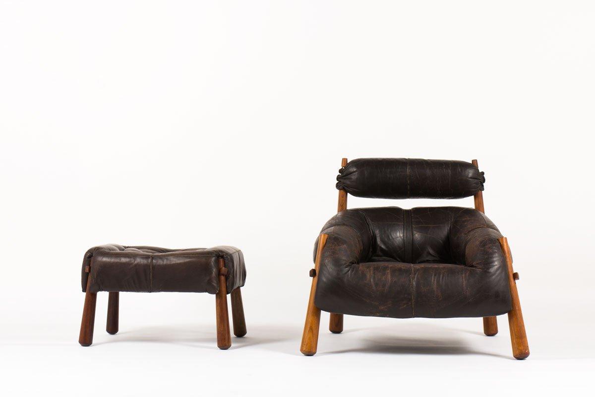 mid century sessel hocker von percival lafer bei pamono kaufen. Black Bedroom Furniture Sets. Home Design Ideas