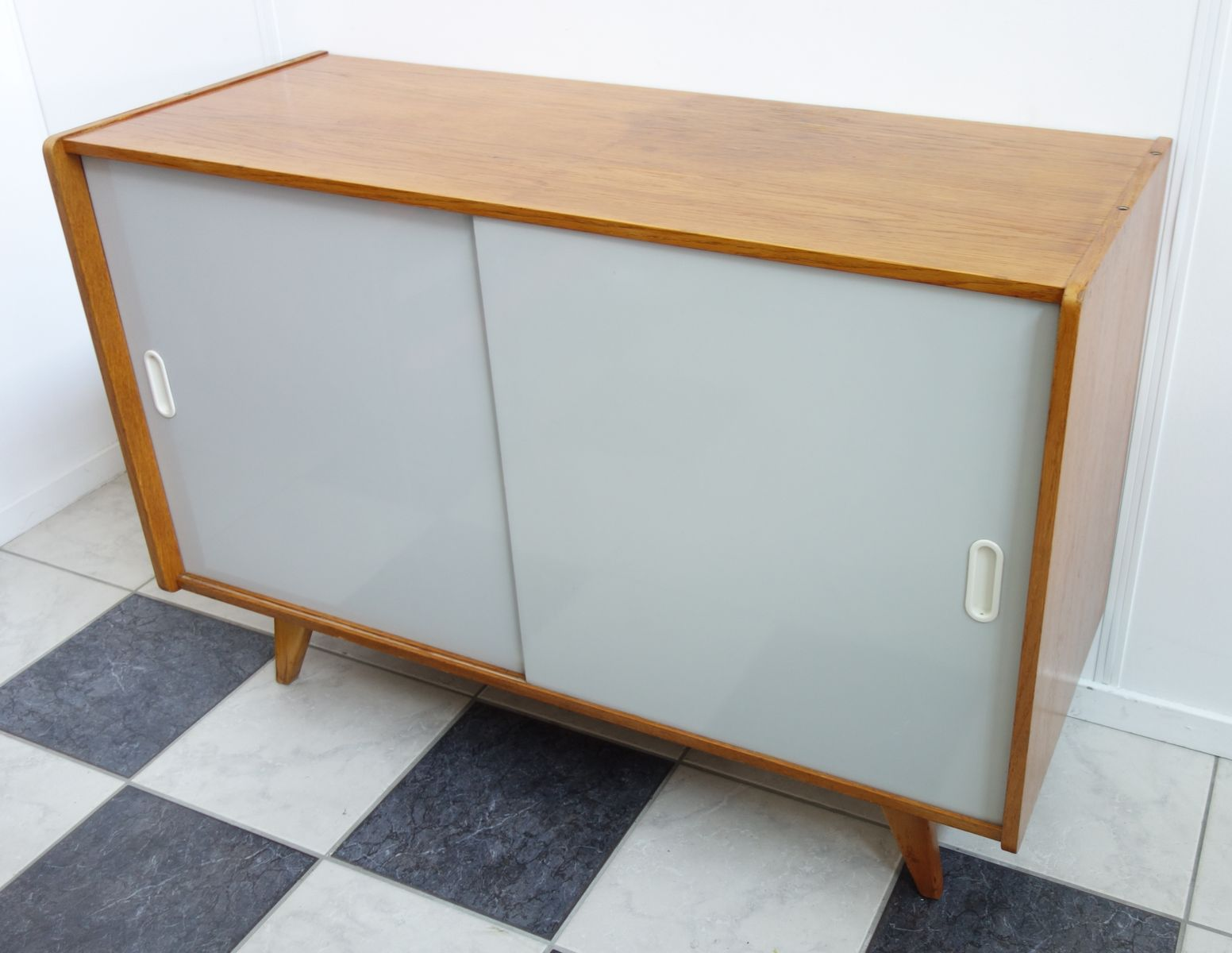 Sideboard with Grey Sliding Doors by Jiri Jiroutek for Interier ...