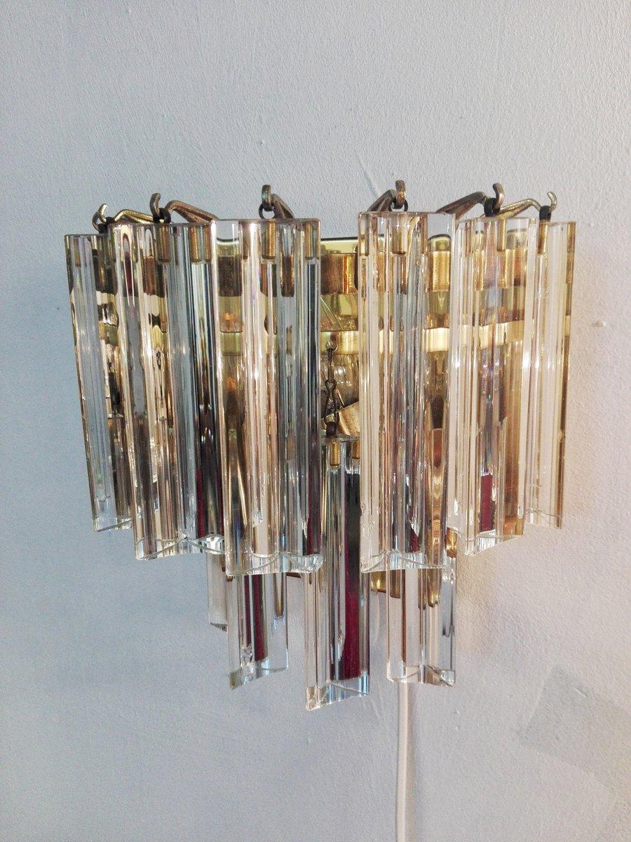 Vintage Kristallglas Wandleuchte