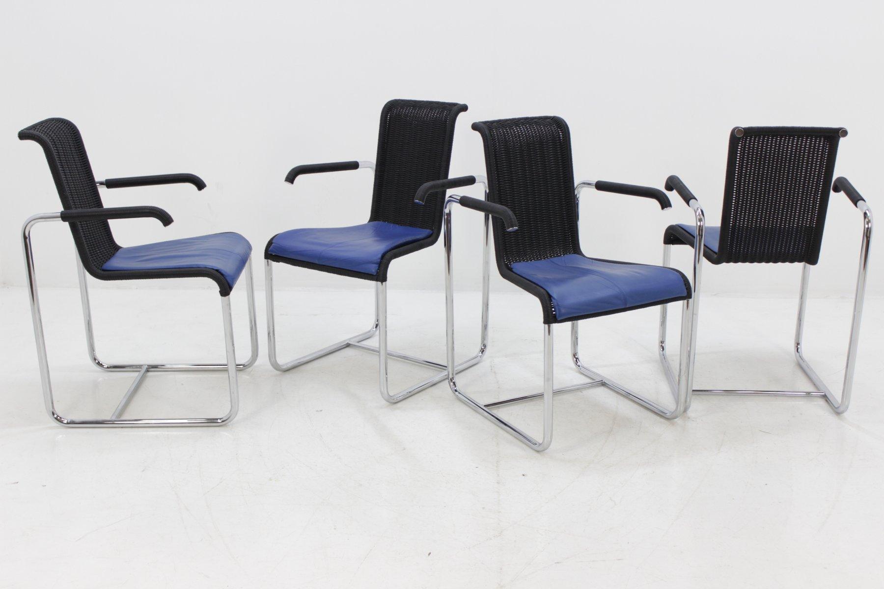 d20 st hle von jean prouv f r tecta 1980er 4er set bei. Black Bedroom Furniture Sets. Home Design Ideas