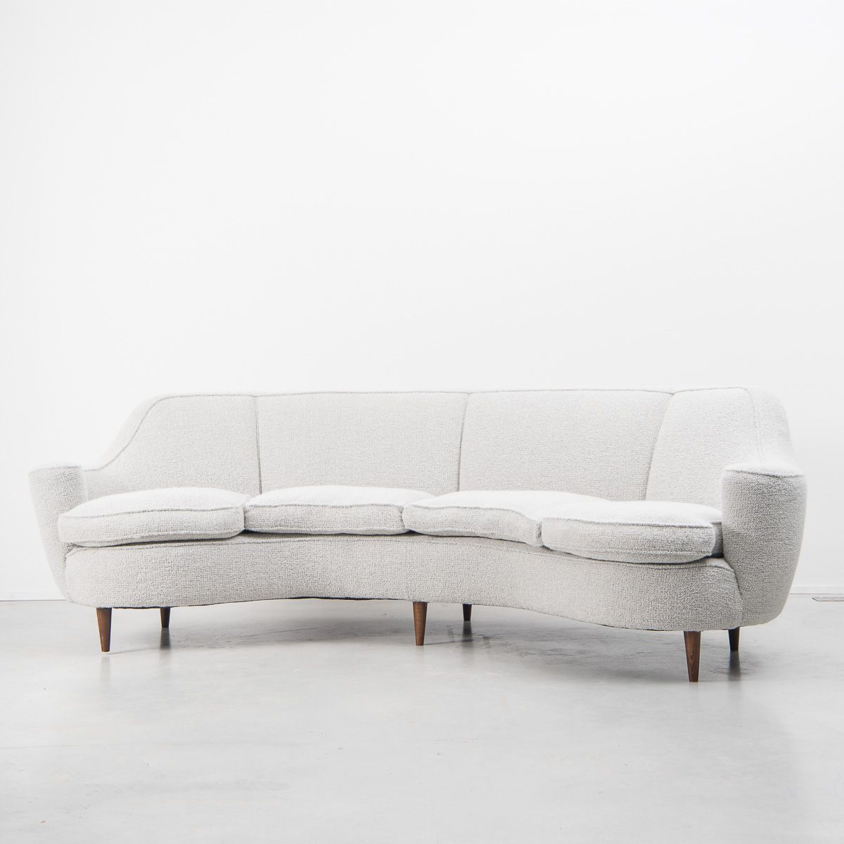 canap courb mid century italie 1950s - Canape Courbe