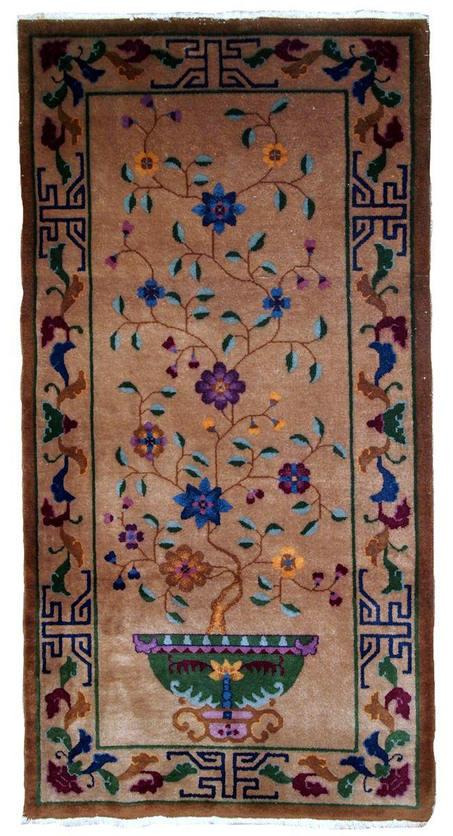 Handgearbeiteter chinesischer art deco teppich 1920er bei - Art deco teppich ...