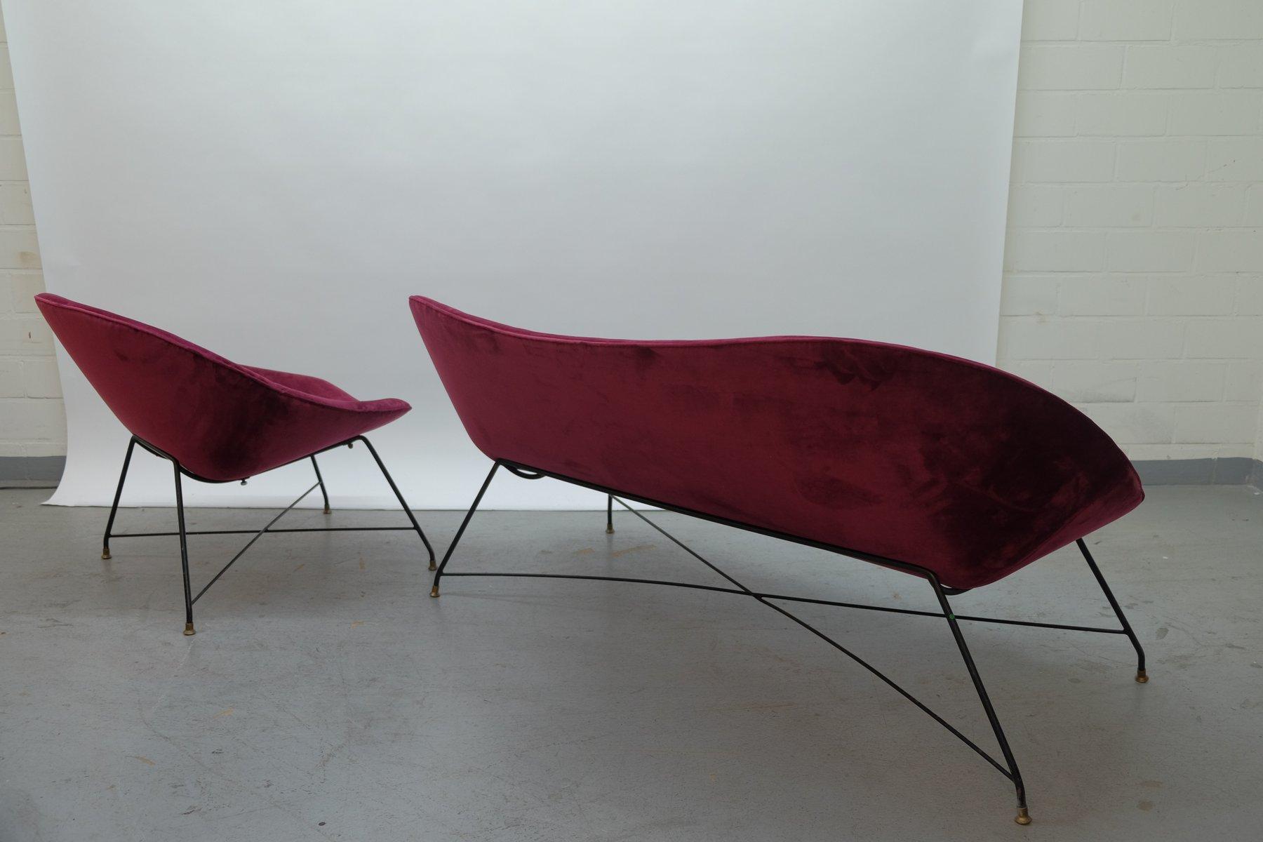 vintage sofa sessel von augusto bozzi f r saporiti italia bei pamono kaufen. Black Bedroom Furniture Sets. Home Design Ideas