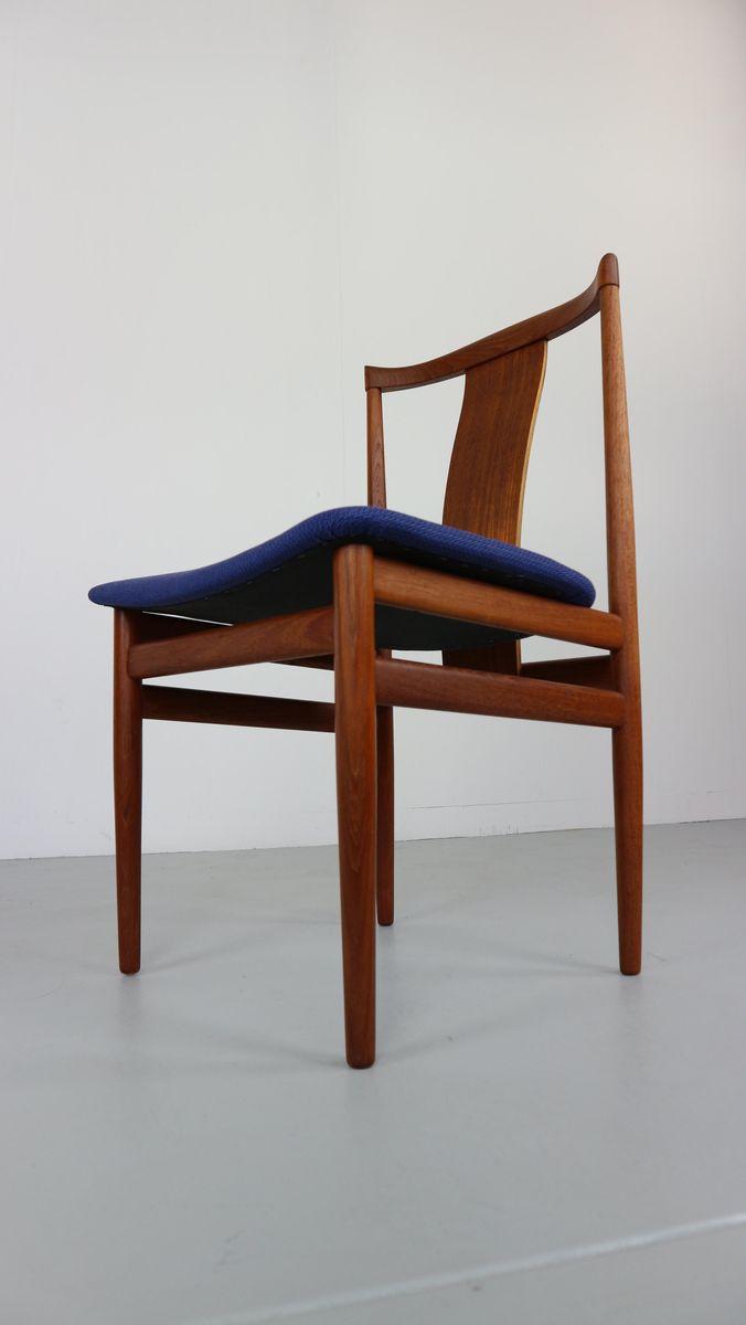 skandinavische teak st hle von henning s rensen 1968 6er. Black Bedroom Furniture Sets. Home Design Ideas