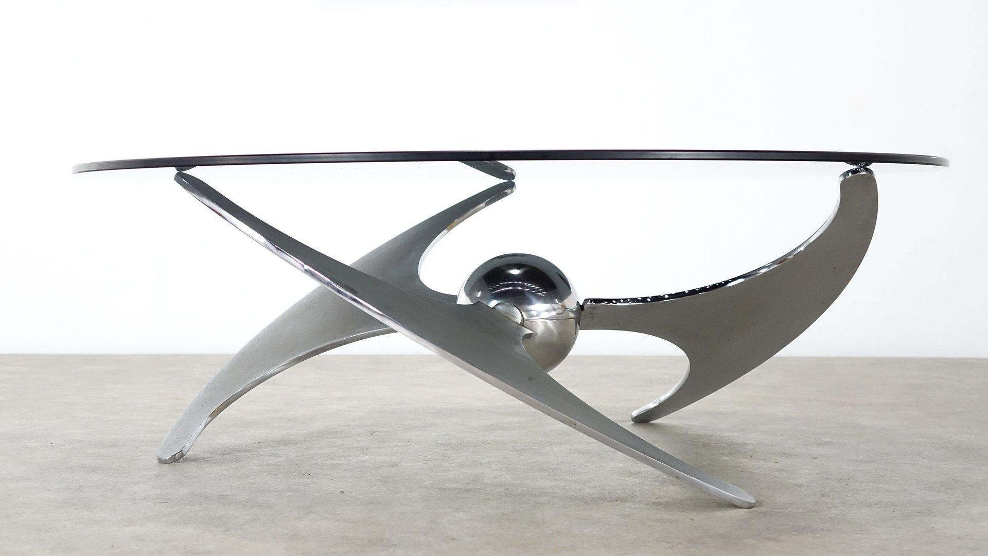 Verstellbarer Couch- oder Esstisch von L. Campanini für Cama, 1973