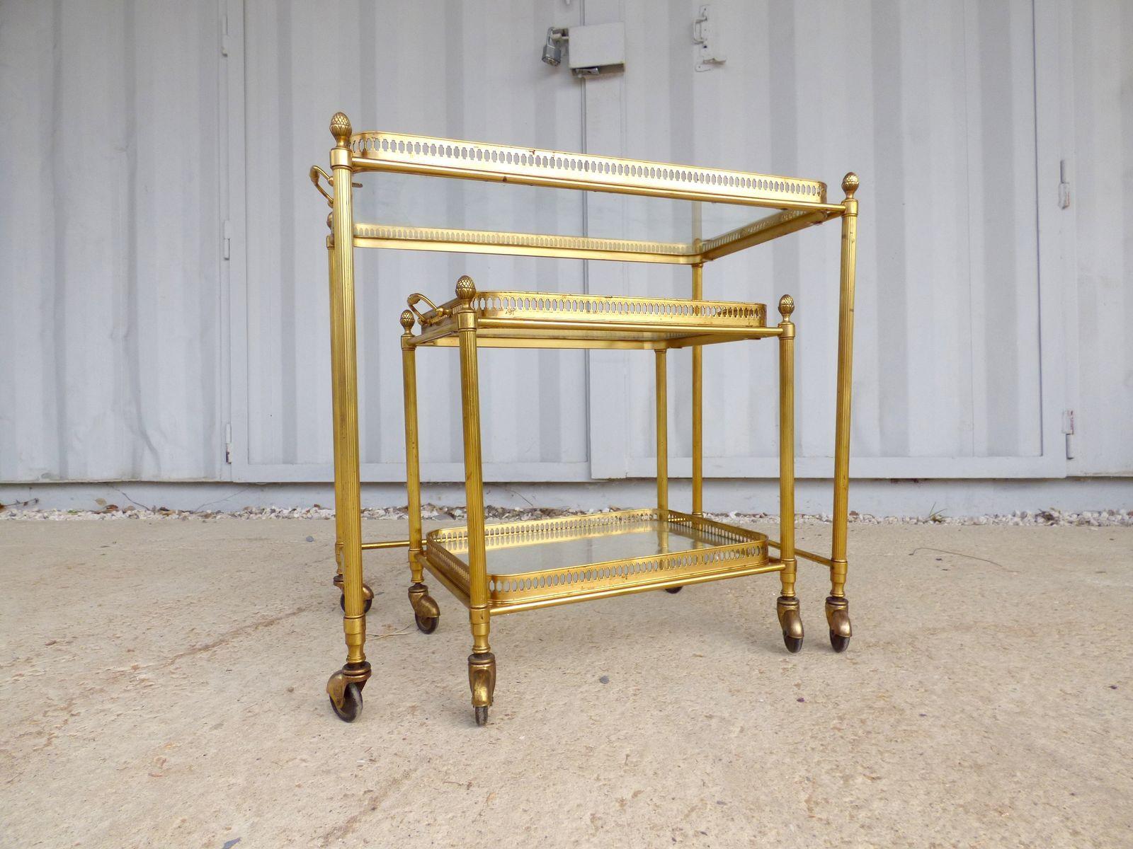 satztische auf rollen von maison jansen 1960er bei pamono kaufen. Black Bedroom Furniture Sets. Home Design Ideas
