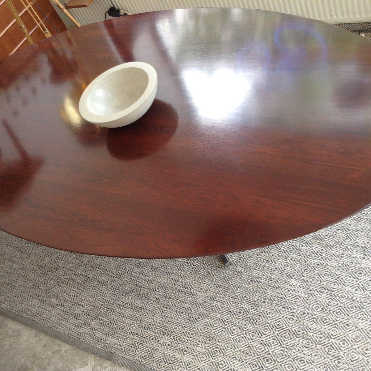 Ovaler Esstisch von Florence Knoll für Knoll International, 1950er