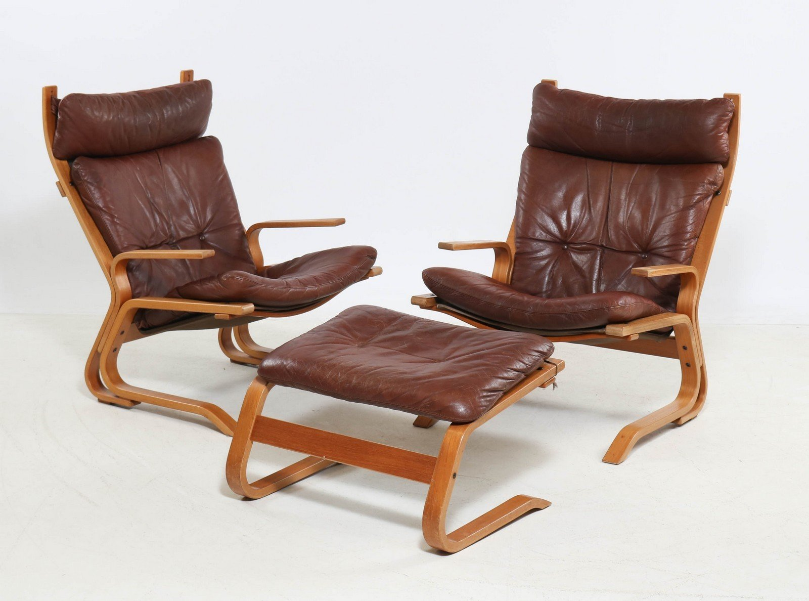 Hohe Kengu Chairs und Hocker von Elsa & Nordal Solheim für Rybo Rykken...