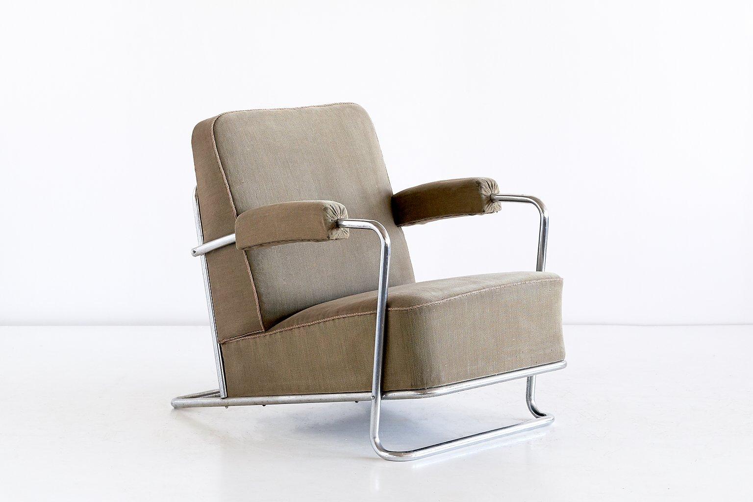Französischer B251 Sessel von René Coquery für Thonet, 1930er