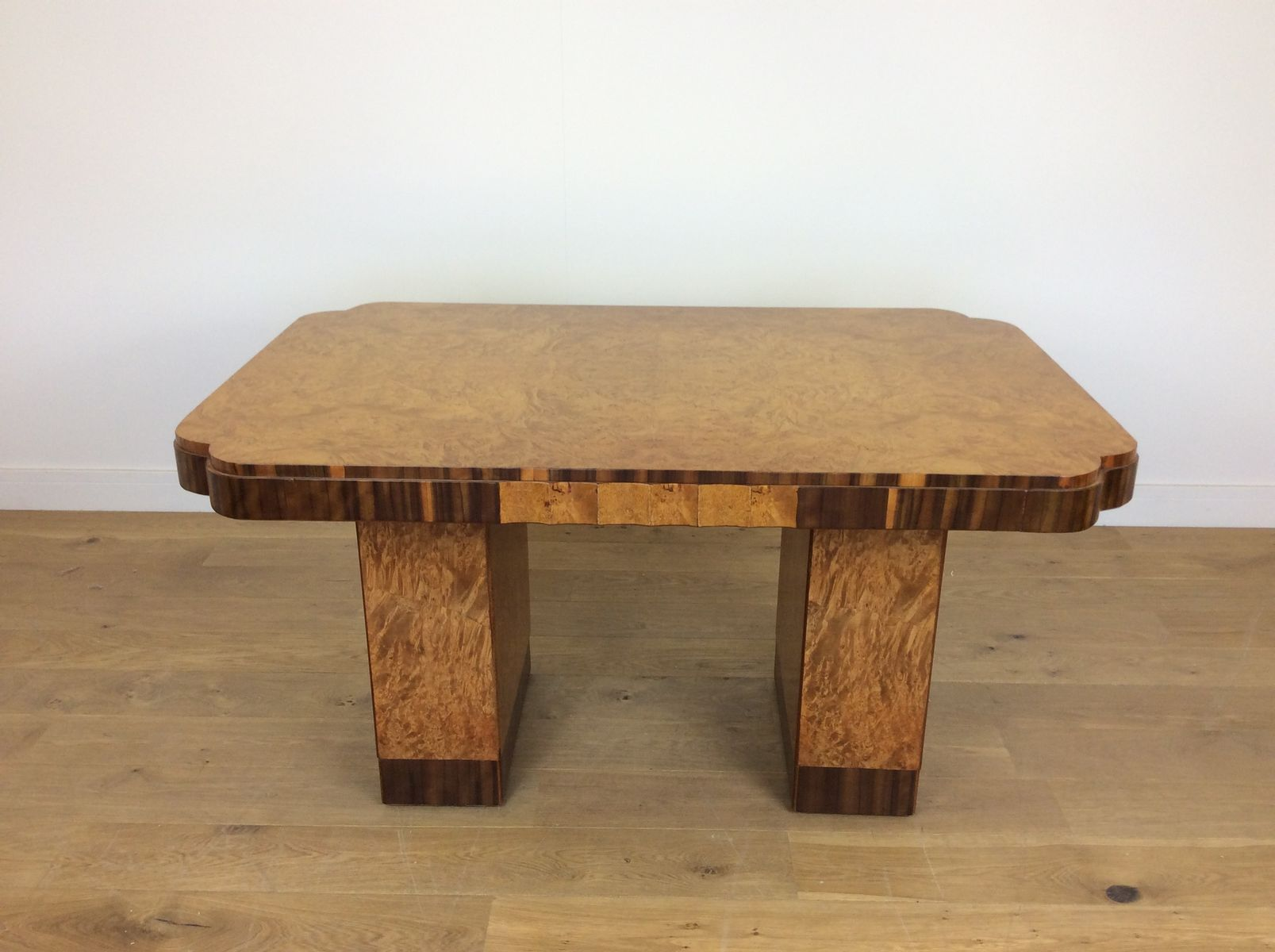 Art Deco Dining Table In Maple From Harry U0026 Lou Epstein, 1930s