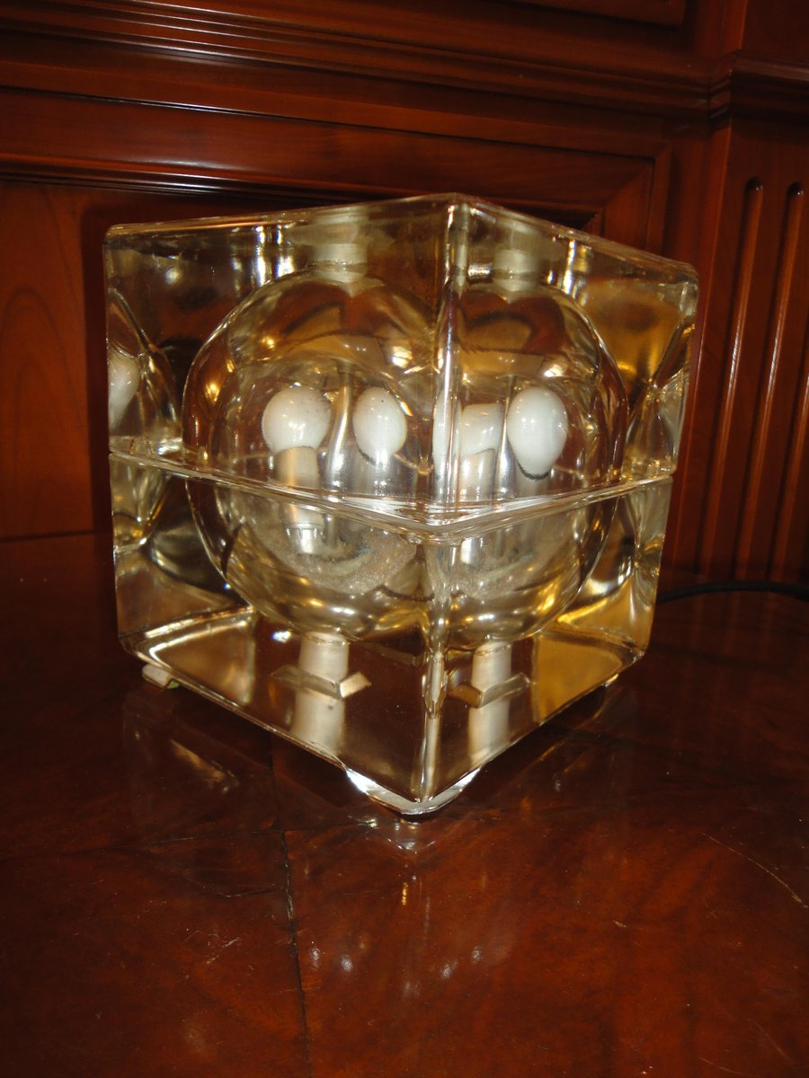 Cubosphere Lampe von Alessandro Mendini für Fidenza Vetraria, 1968