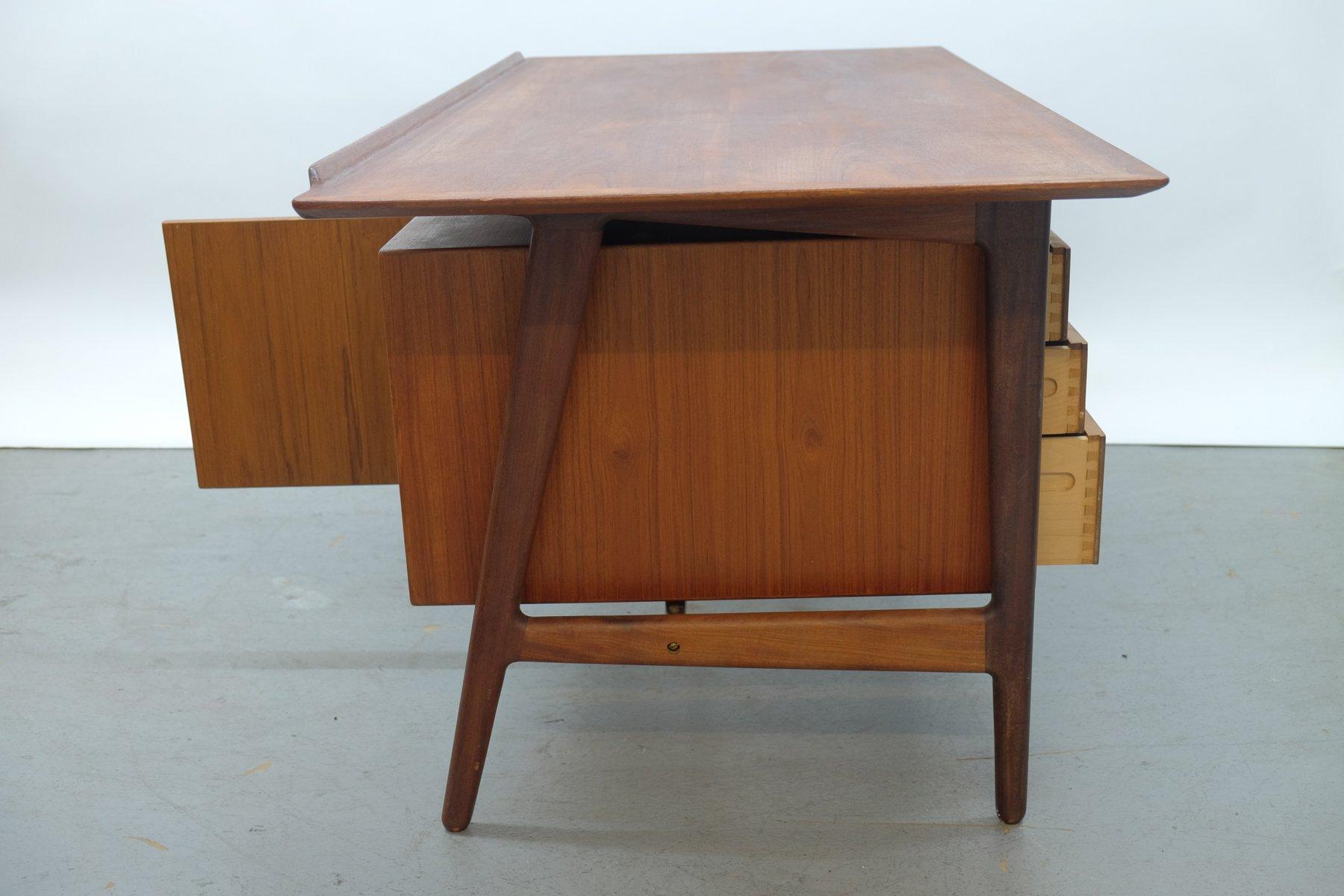 Mid Century Teak Desk By Arne Vodder For Vamo Sønderborg